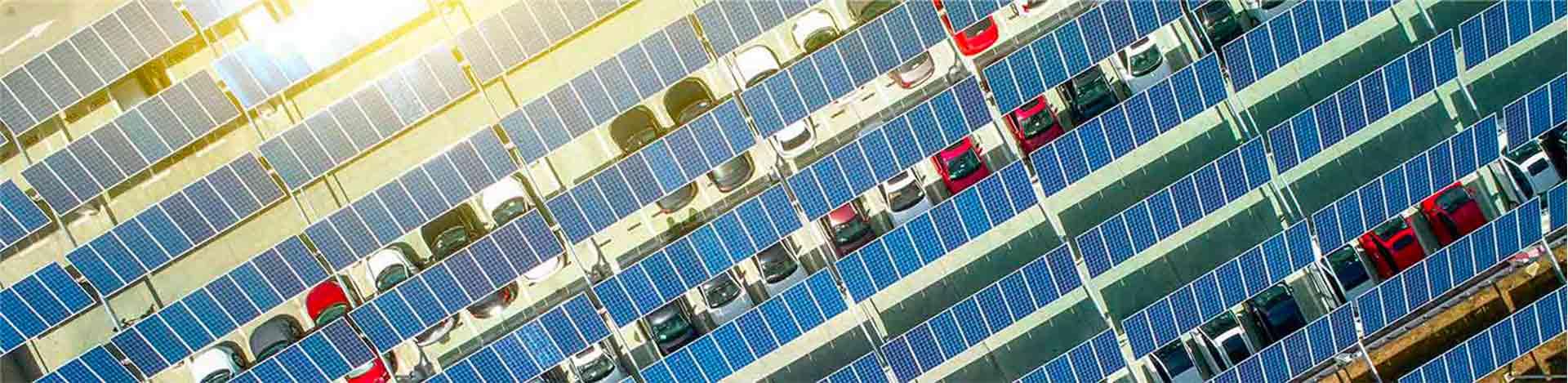 Des ombrières pour les voitures électriques