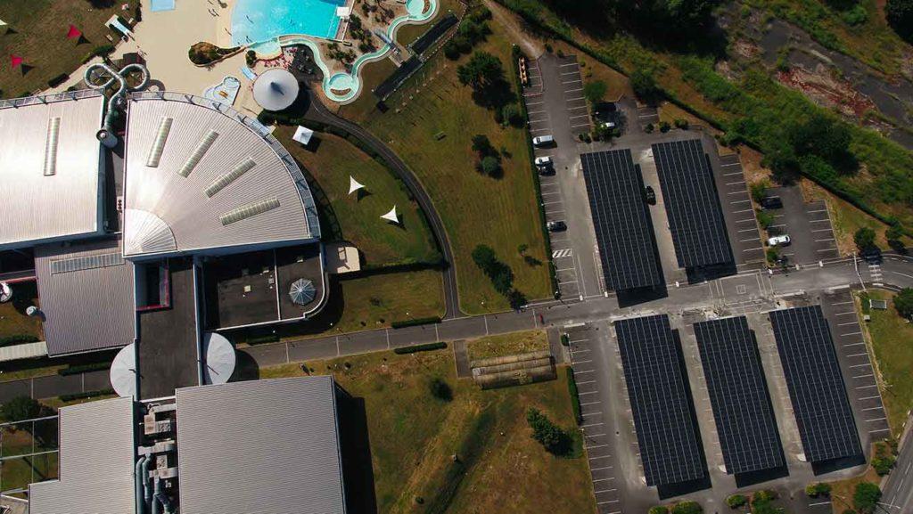 Centre aquatique Nautilis vu du ciel